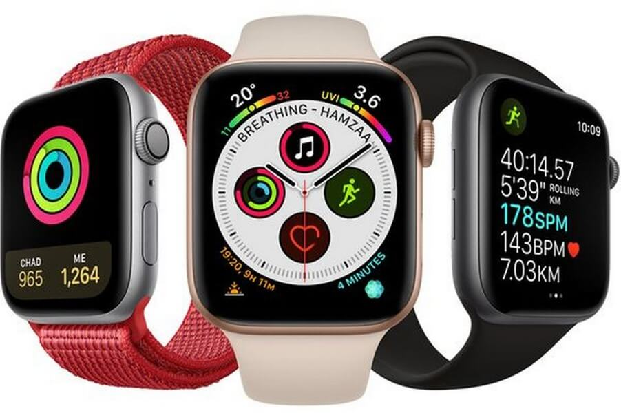 Different colour Apple watches